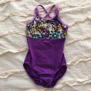 Basic Moves dance gymnastics purple leotard